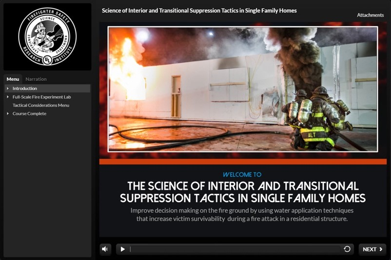 Online Training Highlights the Science of Interior and Transitional Suppression Tactics in Single Family Homes