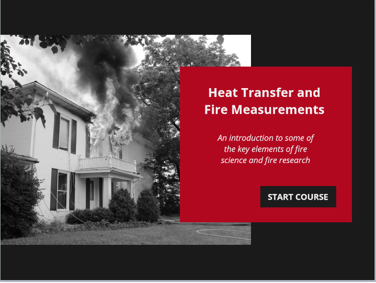 Online Course Provides Introduction to Heat Transfer and Fire Measurement