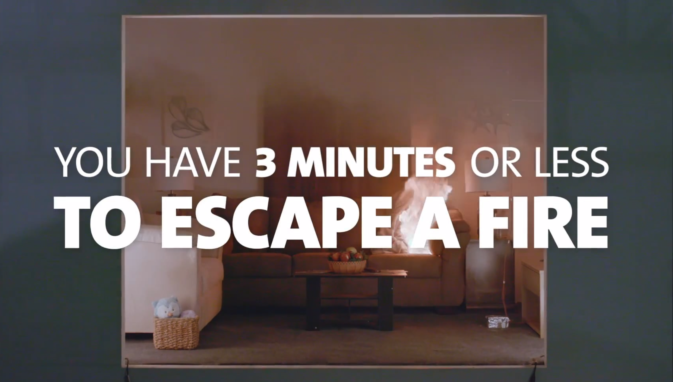 New Demonstration Video Shows You Only Have Three Minutes to Escape a Home Fire