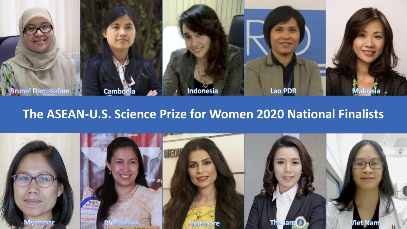 Finalists Chosen for 2020 ASEAN-U.S. Science Prize for Women