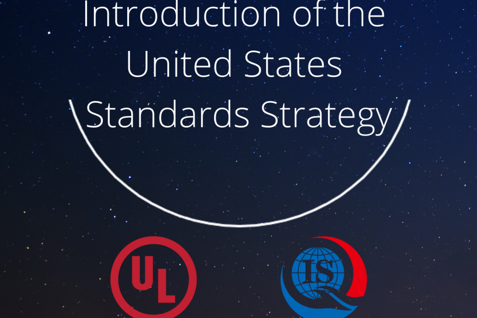 Flyer for Introduction of the United States Standards Strategy Webinar