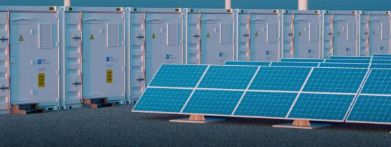 Li-ion battery energy storage system at a renewable energy power plant